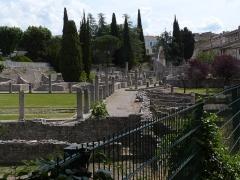 Site archéologique de la Villasse -  Vaison-la-Romaine: römisches Ausgrabungsfeld La Villasse