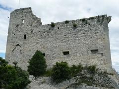 Château (ruines) et rocher qui les porte -  Castle of vaison la romaine