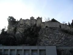 Château (ruines) et rocher qui les porte -  Colline du Château