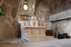 Ancienne église de la Haute-Ville, dite aussi ancienne cathédrale de la Haute-Ville -  Vaison-la-Romaine, Vaucluse, France