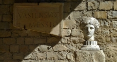 Terrains de fouilles gallo-romaines de la colline du Puymin (ensemble) - Français:   buste de l\'Appolon Lauré site de Puymin - Vaison la Romaine