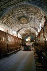 Chapelle des Pénitents Blancs -  inside a chapel in the village of Valréas, Vaucluse, France