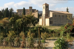 Temple protestant - English: The Lourmarin Castle and the Protestant church of Lourmarin (Vaucluse, France)