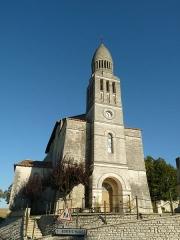 Eglise Saint-Pierre-aux-Liens - English: Church of Allemans, Dordogne, SW France