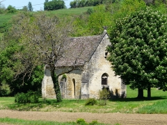 Chapelle Saint-Rémy d'Auriac - Français:   La chapelle Saint-Rémy, Auriac-du-Périgord, Dordogne, France.