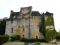 Château de la Faye - Français:   La façade sud du château de la Faye, Auriac-du-Périgord, Dordogne, France.