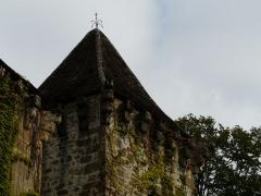 Château de la Faye - Français:   Toit de la tour centrale côté est, château de la Faye, Auriac-du-Périgord, Dordogne, France.
