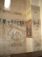 Eglise Sainte-Marie - English: 14th century frescoes in the village church Sainte-Marie of Bourg-des-Maisons, Dordogne, France.
