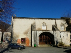 Ancienne église Notre-Dame - Français:   Le porche sud de l\'ancienne église Notre-Dame, Brantôme, Dordogne, France