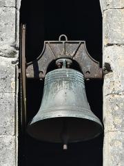 Eglise ou chapelle des Milandes - Français:   La cloche de l\'église des Milandes, Castelnaud-la-Chapelle, Dordogne, France.