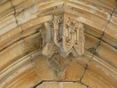 Eglise ou chapelle des Milandes - Français:   Détail du portail sud-est, église des Milandes, Castelnaud-la-Chapelle, Dordogne, France.