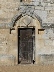 Eglise ou chapelle des Milandes - Français:   Le portail sud-ouest de l\'église des Milandes, Castelnaud-la-Chapelle, Dordogne, France.