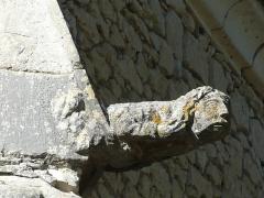 Eglise ou chapelle des Milandes - Français:   Tête sculptée, église des Milandes, Castelnaud-la-Chapelle, Dordogne, France.
