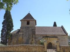 Ancienne église Saint-Clair du Vieux-Castel - Français:   Castels - Église Saint-Martin du Vieux-Castel - Côté nord