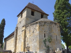Ancienne église Saint-Clair du Vieux-Castel - Français:   Castels - Église Saint-Martin du Vieux-Castel - Vu du chevet