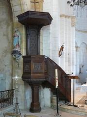 Eglise Notre-Dame de l'Assomption - Français:   La chaire de l\'église Notre-Dame de l\'Assomption de Cause, Cause-de-Clérans, Dordogne, France.