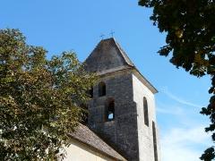 Eglise Notre-Dame de l'Assomption - Français:   Le clocher de l\'église Notre-Dame de l\'Assomption de Cause vu du sud-ouest, Cause-de-Clérans, Dordogne, France.
