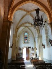 Eglise Notre-Dame de l'Assomption - Français:   La nef de l\'église Notre-Dame de l\'Assomption de Cause, Cause-de-Clérans, Dordogne, France.