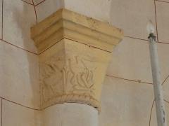 Eglise Notre-Dame de l'Assomption - Français:   Chapiteau du chœur de l\'église Notre-Dame de l\'Assomption de Cause, Cause-de-Clérans, Dordogne, France.
