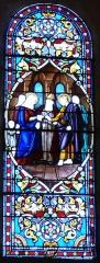 Eglise Notre-Dame de l'Assomption - Français:   Vitrail de l\'église Notre-Dame de l\'Assomption de Cause, Cause-de-Clérans, Dordogne, France.