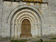 Eglise Saint-Paul de Reilhac - Français:   Le portail de l\'église Saint-Paul de Reilhac, Champniers-et-Reilhac, Dordogne, France.
