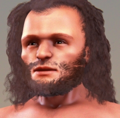 Abri de Cro-Magnon - English: Forensic facial reconstruction of a Cro-Magnon man, usgin a cast of skull.