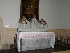 Eglise de la Décollation de Saint-Jean-Baptiste - Français:   L\'autel principal de l\'église de Fanlac, Dordogne, France.