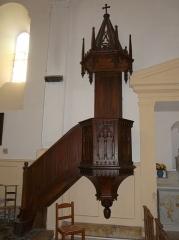 Eglise de la Décollation de Saint-Jean-Baptiste - Français:   La  chaire de l\'église de Fanlac, Dordogne, France.