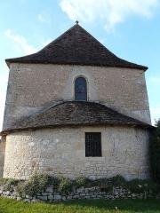 Eglise de la Décollation de Saint-Jean-Baptiste - Français:   Le chevet de l\'église de Fanlac, Dordogne, France.