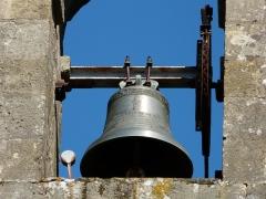 Eglise de la Décollation de Saint-Jean-Baptiste - Français:   Une des deux cloches de l\'église, Fanlac, Dordogne, France.