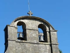 Eglise de la Décollation de Saint-Jean-Baptiste - Français:   Le clocher-mur de l\'église, Fanlac, Dordogne, France.