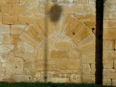 Eglise de la Décollation de Saint-Jean-Baptiste - Français:   Enfeu muré, mur sud de l\'église de Fanlac, Dordogne, France.