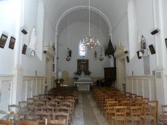 Eglise de la Décollation de Saint-Jean-Baptiste - Français:   La nef de l\'église, Fanlac, Dordogne, France.