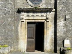 Eglise de la Décollation de Saint-Jean-Baptiste - Français:   Le portail de l\'église, Fanlac, Dordogne, France.