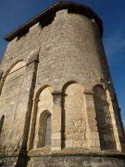 Eglise Saint-Martin - Français:   clocher de l\'église de Festalemps, Dordogne, France
