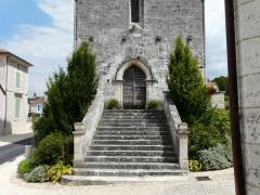 Eglise Saint-Pierre-et-Saint-Paul - Le portail ouest de l'église Saint-Pierre et Saint-Paul de Grand-Brassac, Dordogne, France.