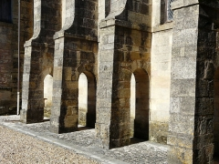 Ancien hôpital - Français:   Contreforts de l\'ancien hospice de Hautefort, Dordogne, France.