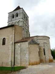 Eglise de la Chapelle-Saint-Robert - Français:   Le chevet et le clocher, église Saint-Robert, Javerlhac-et-la-Chapelle-Saint-Robert, Dordogne, France.