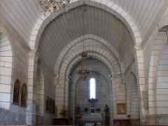 Eglise de Javerlhac - Deutsch: Innenansicht der Kirche Saint-Etienne in Javerlhac.