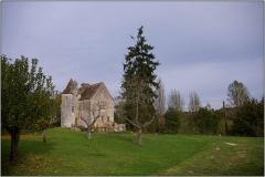 Château de Laroque - Français:   Vue lointaine du château de Laroque