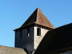 Eglise Saint-Martin - Français:   Le clocher de l\'église Saint-Martin vu du nord-ouest, Limeuil, Dordogne, France.