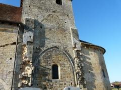 Eglise Saint-Martin - Français:   La façade sud de l\'église Saint-Martin, Limeuil, Dordogne, France. On voit nettement les traces d\'un ancien corps de bâtiment qui y était accolé.