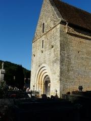 Eglise Saint-Martin - Français:   La façade ouest de l\'église Saint-Martin, Limeuil, Dordogne, France.