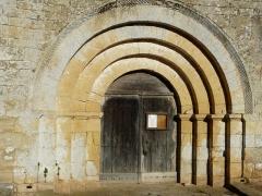 Eglise Saint-Martin - Français:   Le portail de l\'église Saint-Martin, Limeuil, Dordogne, France.