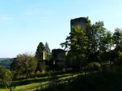 Ruines du château de Miremont - Français:   Les ruines du château de Miremont, Mauzens-et-Miremont, Dordogne, France.