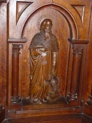 Eglise Saint-Pierre-ès-Liens - Français:   Panneau représentant saint Jérôme, ambon de l\'église Saint-Pierre-ès-Liens de Montignac, Dordogne, France.