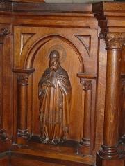 Eglise Saint-Pierre-ès-Liens - Français:   Panneau représentant saint Grégoire, ambon de l\'église Saint-Pierre-ès-Liens de Montignac, Dordogne, France.