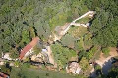 Gisement préhistorique du Régourdou - Français:   Vue aérienne du site historique du Regourdou