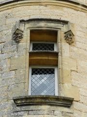 Château de Monsec - Fenêtre de la tour sud du château de Monsec, Mouzens, Dordogne, France.