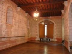 Vestiges de la citadelle gallo-romaine de Vésone - La grande salle à l'étage de l'hôtel d'Angoulême, Périgueux, Dordogne, France.
